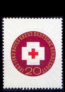 Germany 1963 MNH, Red Cross centenary 1v, Embossed