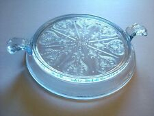 Vintage Fire King Oven Glass Tab Handle Casserole Hot Plate Trivet Sapphire Blue