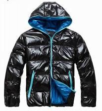 Shiny Glanznylon wet-look Daunenjacke Daunenmantel Mantel Downjacket hood L-XXL