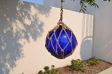 "REPRODUCTION COBALT BLUE GLASS FLOAT FISHING BALL BUOYS 12"" #F-954"