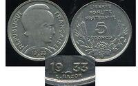 5 francs 1933  bazor  ( espace entre L et bazor )  ( bis )