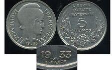 5 francs 1933  bazor  ( espace entre L et bazor )