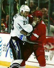 Zenon Konopka Hand Signed 8x10 Photo Tampa Bay Lightning Hockey Autograph