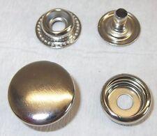 10 Druckknöpfe ! rostfrei !  20mm silber Ringfeder 10mm