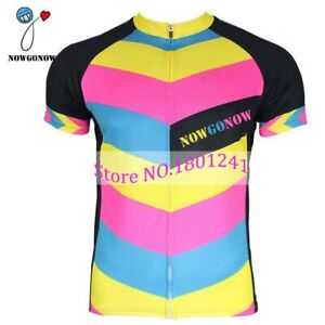 Man Cycling Jersey Summer Colorful Bike Clothing Pro Team