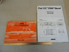 FIAT 132 1981 MANUALE USO MANUTENZIONE ORIGINALE + AGGIUNTIVO