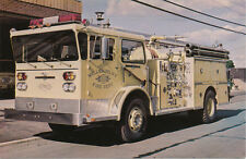 Wellsburg NY * Fire Dept. and Engine  1970s * Chemung Co.