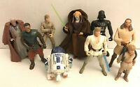 9pc Star Wars Hasbro lot Obi Wan Darth Vader Anakin R2D2 Luke Skywalker Bespin