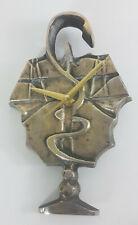 Horloge caducée cotoflex en bronze