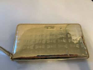 NEW Kate Spade Metallic Bow Gold Wallet