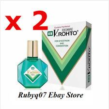 2 x NEW V Rohto Eyedrop Eye drops 13ml for Eyestrain Congestion Redness Fatigue