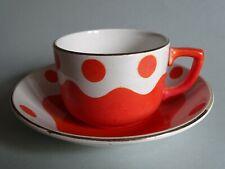 1 ANCIENNE TASSE A CAFE EN FAIENCE DE SARREGUEMINES ART DECO  POIS