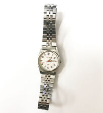 Seiko Quartz Stainless Steel Band Analog Women's 2 Jewels Unadjusted For Parts