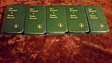 Gideon's NEW TESTAMENT PSALMS PROVERBS Revised Berkley Edition 1978 LOT OF 5