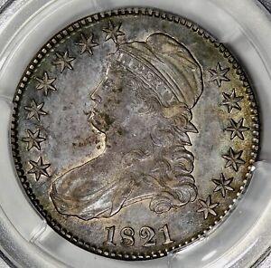 PCGS AU50 1821 CAPPED BUST HALF