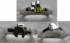 Toe Rings Pack Of 3 Turtle Bee Whale Sterling Silver