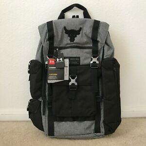 NEW Under Armour x Project Rock Vanish Regiment Backpack Gray Black 1325331-040