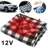 Electric Car Blanket- Heated 12 Volt Fleece Travel Throw for Car Warm Winter UK