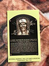 Larry Walker Postcard- Baseball Hall of Fame Induction Plaque- 2021- 2020