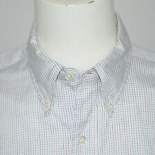 BROOKS BROTHERS Vintage White Grid Cotton Dress Shirt 16.5 - 33 Made in USA