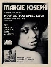 Margie Joseph UK LP/'45 advert