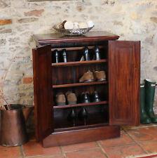 La Roque Dark Wood Shoe Cabinet Unit Storage Solid Mahogany