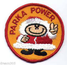Vintage Hiking Snowmobile Patch Parka Power for Jacket or Hat Skidoo Vespa!