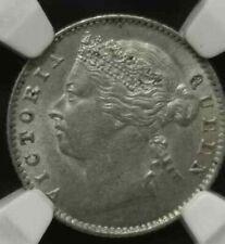 NGC MS 62 Straits Settlements silver coin 1881 10 cents UNC Q Victoria