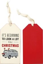 "Wood Wine Bottle Tag Tie On Sign~""It's Beginning To Look A Lot Like Christmas"""