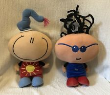 Two Plush Play Along AGC Big Head Dolls Easy And Smile