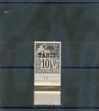 TAHITI Sc 21(YT 23)**F-VF NH, 1893 10c BLACK/LILAC, SCARCE NH, MARGIN COPY $2400