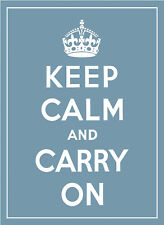 KEEP CALM AND CARRY ON A3 POSTER PRINT