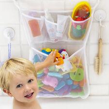 Cw_ Au_ Kf_ Baby Bath Bathtub Toy Mesh Storage Bag Suction Stuff Tidy Organizer