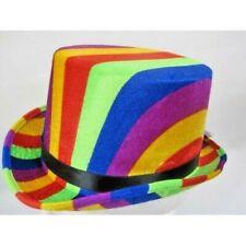 Top Hat Rainbow Colours 61cm Mrh7781 Adult Size