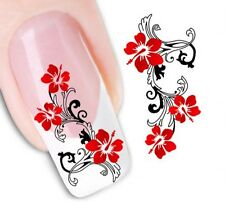 Nail Art Sticker Water Decals Transfer Stickers Decorative Flowers (XF1441)