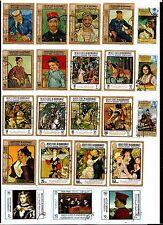 FUJEIRA 22T. collés sur feuille: portraits et tableaux peintres cèlebres C232