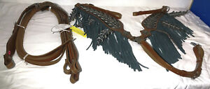 New Showman Limited Edition Western Bridle/Breastcollar Set Fringe Horse Tack NR