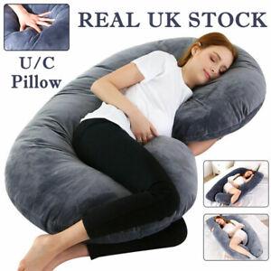 U/J/C Shape Maternity Pregnancy Support Pillow Nursing Feeding Full Body Pillow