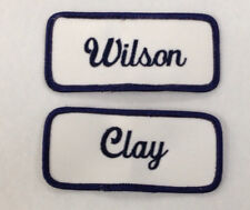 Patches Name Tags Personalized Iron On Embroidered Name Patches Emblems Name Tag