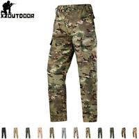 Mens Cargo Pants Tactical Military Combat Army BDU Casual Trousers Camouflage