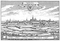 MAP ANTIQUE MERIAN 1656 SCHWEINFURT CITY PLAN (2) REPLICA POSTER PRINT PAM1108