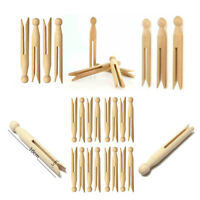 48x Wooden Dolly Pegs Portable Traditional Craft Washing Laundry Clothes Clip