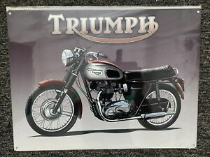 Retro Metal Sign Triumph Motorcycle 40cm X 30cm New