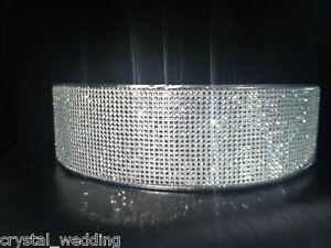 "Crystal Diamante wedding cake stand 4"" Deep- & 3 meters of cake trim"