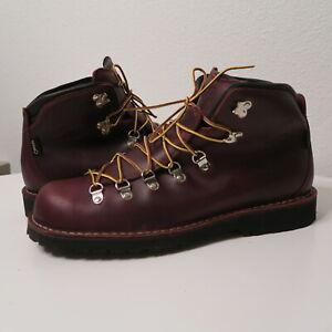 Danner Mountain Pass Boots 33280 Men's Size 12 EE Wide Dark Brown Mink Oil beige