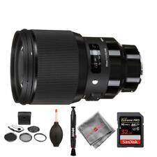 Sigma 85mm f/1.4 DG HSM Art Lens and memory kit