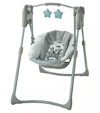 GRACO Slim Spaces Compact Baby Swing - Gray