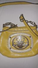 YELLOW & Silver Kathy Van Zeeland Small Cross Body Purse SMALL Handbag