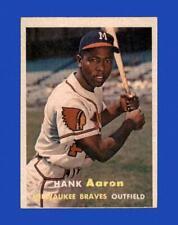 1957 Topps Set Break # 20 Hank Aaron VG-VGEX *GMCARDS*