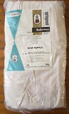 New Vintage Springmaid Sabrosa Cotton Bed Skirt/Dust Ruffle Full Size Usa Made